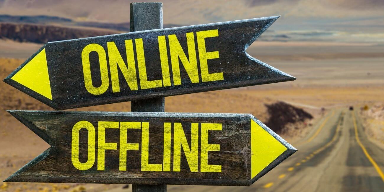 Online Offline Wegweiser