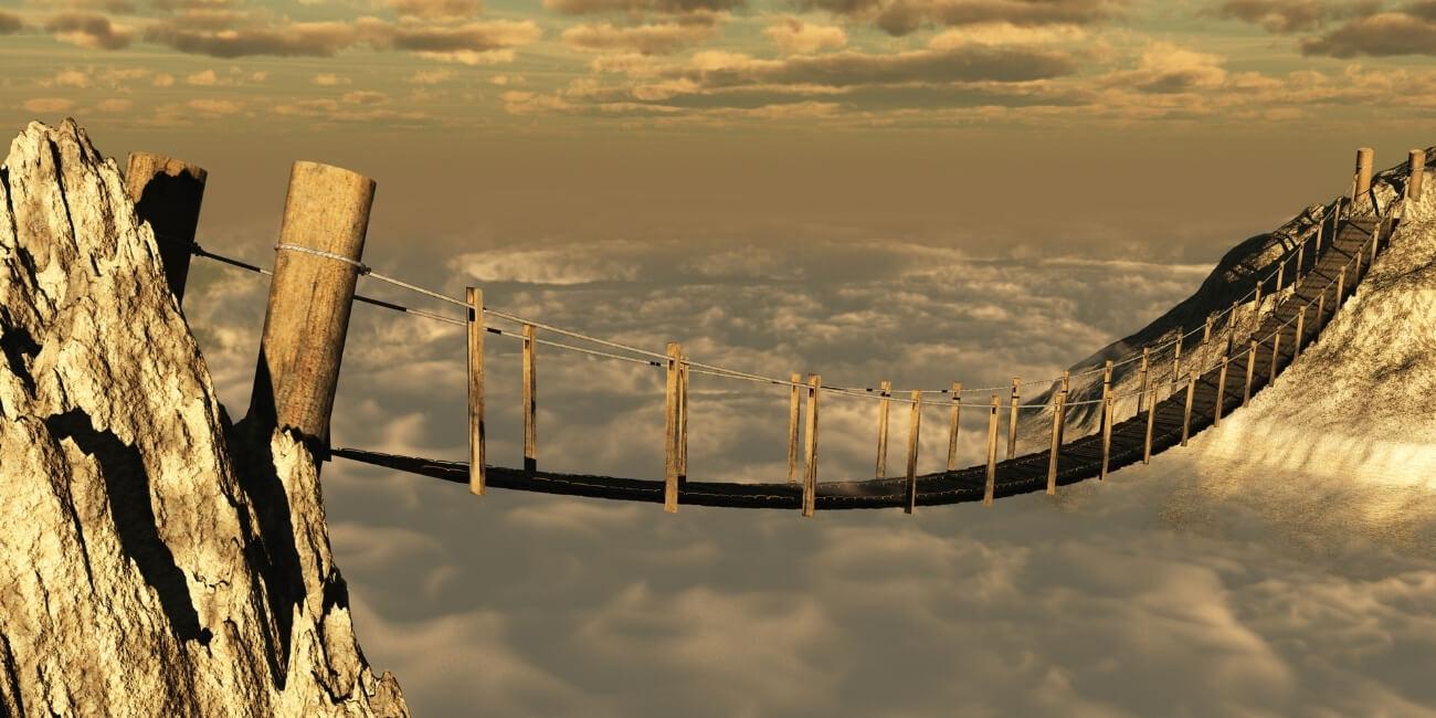 Kundenvertrauen gewinnen Hängebrücke